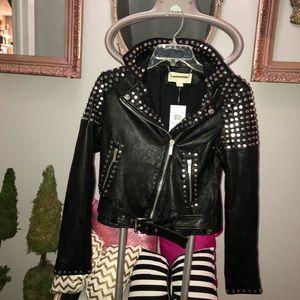 Michael Michael Kors studded motorcycle jacket xs